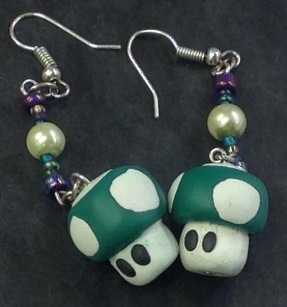 Mushroom earrings!!