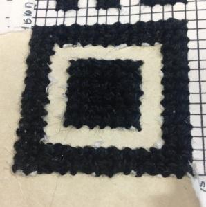 Voila! A beautiful QR code cross stitch! :D